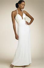 NWOT  Mary L Couture Notch Bodice Halter Gown SZ 6 Parfait mint Full-Length
