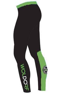 Woldorf USA Mens MMA Compression Pants Tight Leggings Training Black Green NO Gi