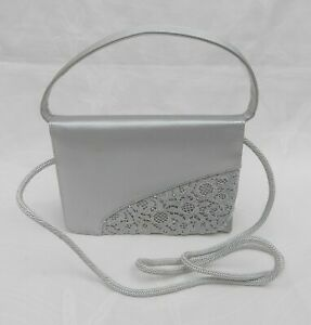"""STUART WEITZMAN RUSSELL & BROMLEY SMALL SILVER BAG 7X5X2"""" VGC FREE UK POSTAGE!!"""