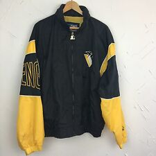 Pittsburgh Penguins Vintage 1990's 90s Starter Jacket NHL Windbreaker Large L