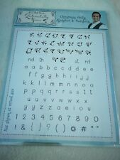 Sentimentality Yours Rubber Stamps - Christmas Holly Alphabets & Numbers