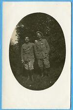 CPA PHOTO: Portrait de deux Poilus portant la médaille militaire / Guerre 14-18