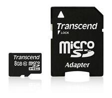 8 Go Carte Mémoire Micro SDHC CL10 Transcend Haut débit avec adaptateur SD