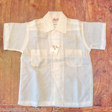 Rob Roy 1940s Boy Summer Shirt~Sheer Nylon Fabric~Made In The Usa~New&Tag~6 yrs