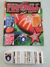 AFL select sticker album 1998 and complete 252/252 stickers (unused empty)