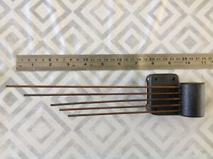 Antique Westminster Chime Gong Mantle Clock Spare Part longest rod 25cm 57mm W
