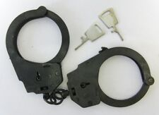 Russian Police Security Handcuffs and Keys Heavy Black Steel Original New