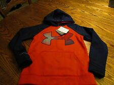 Under Armour Cold Gear Big Logo STORM 1 Hoodie Sweatshirt Youth S Loose Fit NWT