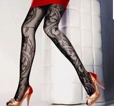 Womans Sexy x 2 Floral Stockings Pattern Fishnet Pantyhose