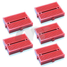 5pcs Red 170 Tie-point Prototype Solderless PCB Breadboard for Arduino DIY