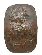 Very Old Copper Period Lady Figurine Decorative Plate Up For Sale. G23-9
