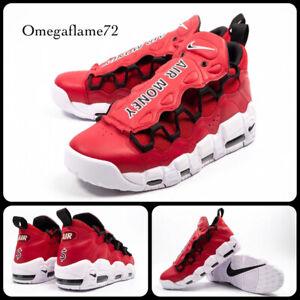 """Nike Air More Money Uptempo """"BULLS"""" AJ2998-600, Sz 10, EU 45, US 11, Gym Red"""