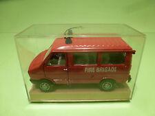 OLD CARS 1:43  IVECO  FIRE BRIGADE FIAT-  GOOD CONDITION  - IN ORIGINAL SHOWCASE