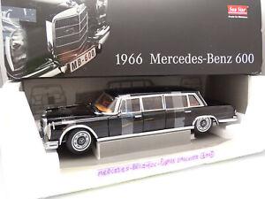 SunStar 1/18 - Mercedes 600 Pullman Limousine 1966 Noire