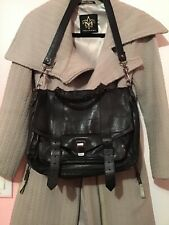 PROENZA SCHOULER PS1 bag Medium black leather satchel gunmetal hardware