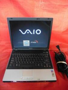 Sony Vaio VGN-BX540B 120GB HD Formatted 32bit Power Adapter Bundle