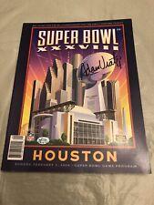 Adam Vinatieri Signed Super Bowl 38 XXXVIII Program Vinatieri Authentic Hologram