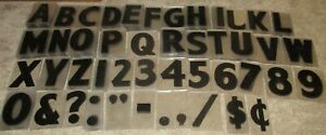 """Lot Individual Gemini 8"""" Letter Clear Plastic Marquee Sign Number Punctuation"""