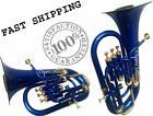 """CHOPRA "" Euphonium 4 Valves Brass Bb FLAT Blue & brass Color M/ P & Bag 11/1"