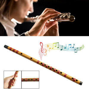 1PC 10 Hole Flute Bamboo Musical Instrument Handmade Beginner Students Gifts AU