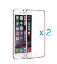 2 x 3D FullCover Schutzglas AluTitan Rahmen tempered 9H für iPhone 6 6s 7 rose