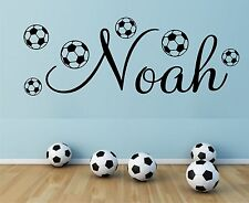 PERSONALISED NAME FOOTBALL WALL ART STICKER QUOTE DECAL BOYS DECOR DIY