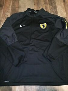 Nike Oregon Ducks Dri-Fit Large Half Zip Pullover Black Size 3XL XXXL