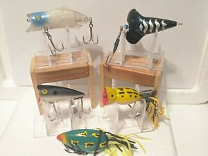 LOT OF 5 VINTAGE TOP WATER FISHING LURES