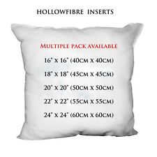 """New 100% Hollowfibre Cushions Inserts Fillers Inners Sizes 16"""" 18"""" 20"""" 22"""" 24"""""""