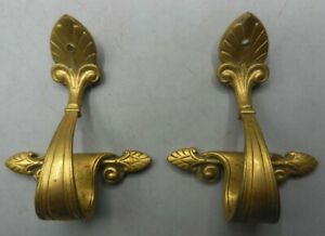 2 Pieces Antique 19th Century Cast Brass / Gilt Bronze Ormolu