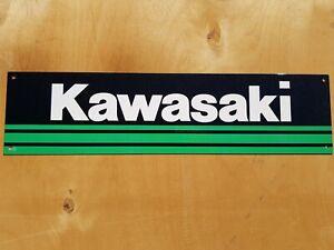 "Kawasaki logo 4.5"" x 18""  metal sign Man Cave/ Garage/ Shed."