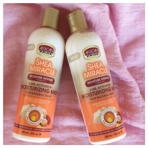 2x African Pride Shea Miracle Curl Activator Moisturizing Milk Natural Hair 12oz