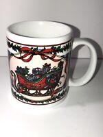 Christmas Holiday Santa's Sleigh Coffee Mug Cup Miyazaki