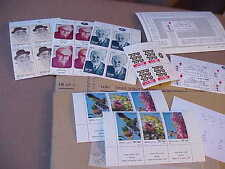MNH  ISRAEL : NewerTabs, Plates, Official Postal Bulletns,Singles from 1982-1986