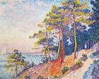 St Tropez Path Paul Signac Landscape Painting Print Canvas Colorful Wall Decor S