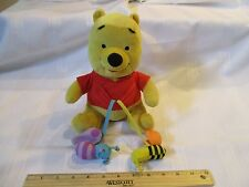Disney Baby Winnie Pooh Bear bee plush Talking sounds flutter butterfly singing