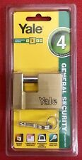 Yale 60mm Armoured Brass Padlock with Hardened Steel Shackle