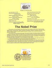 #0124 34c Nobel Prize Stamp #3504 Souvenir Page
