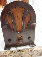 RCA Victor Cathedral Radiolette RS Wood Radio parts Repair Vintage Tube Radio