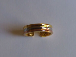 Tri Colour Gold/Copper/Rhodium Magnetic Therapy Band Ring New