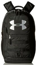 Under Armour Big Logo 5.0 Backpack, Black/Silver, One Size, School/Travel Bag