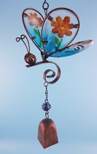 Butterfly spring sun catcher with bell garden wind chime mobile unique gifts