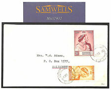 MS2902* 1948 NORTHERN RHODESIA Superb *Silver Wedding* FDC Cover Salisbury
