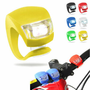 Waterproof Cycling Head Front Rear LED Road Mountain Bike Silicone Safety Lights