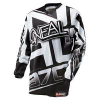 ONeal Moto Cross Jersey RACEWEAR schwarz MX Motorrad Enduro MTB Fahrrad Shirt DH