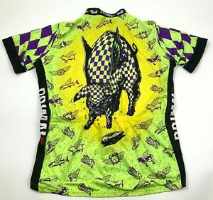 VINTAGE Primal Pig Cycle Jersey Size 2XL XXL Cycling Shirt 3/4 Zip Adult USA 90s