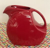 Fiestaware Scarlet Large Disc Pitcher Fiesta Red 67 oz Water Pitcher