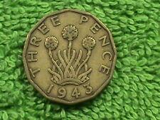 GREAT BRITAIN 3 Pence 1943