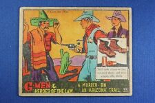1936 Gum G-Men & Heroes of The Law - #33 Murder On An Arizona... G/VG Condition