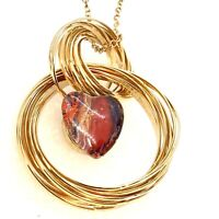 Gold Wire  Hoops Pendant Hand Painted 18-20mm Snap Christmas Mother Birthday